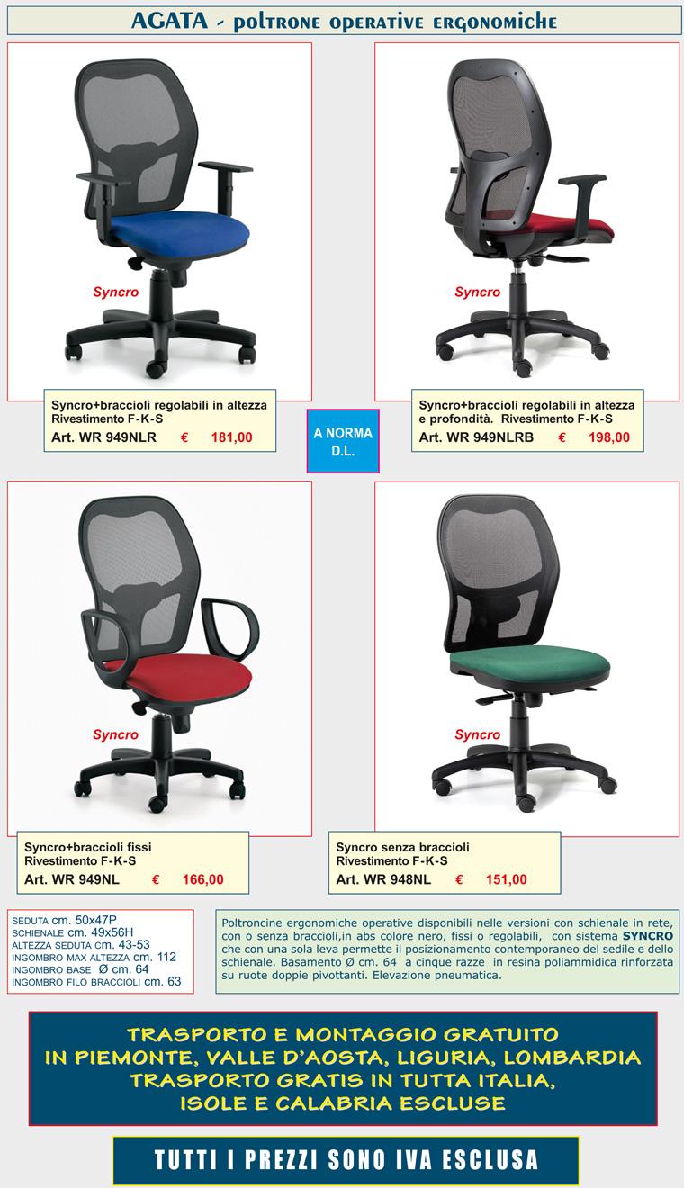 ruote per sedie ufficio rinforzate